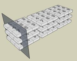 Columna convertida a plano en 3d